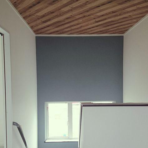 壁 天井 マイホーム記録 アクセントクロス 天井壁紙のインテリア実例