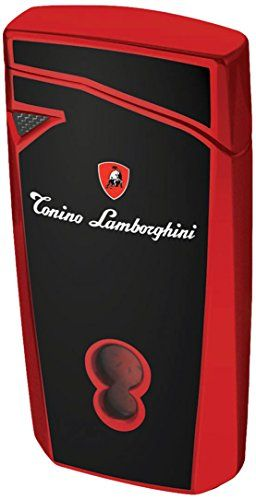 Tonino Lamborghini Magione Black With Red Torch Flame Cigar Lighter Click On The Image For Additional Details T Cigar Lighters Butane Torch Lighter Torch