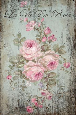 La Vie En Rose Canvas Art By Debi Coules Laminas Vintage Para