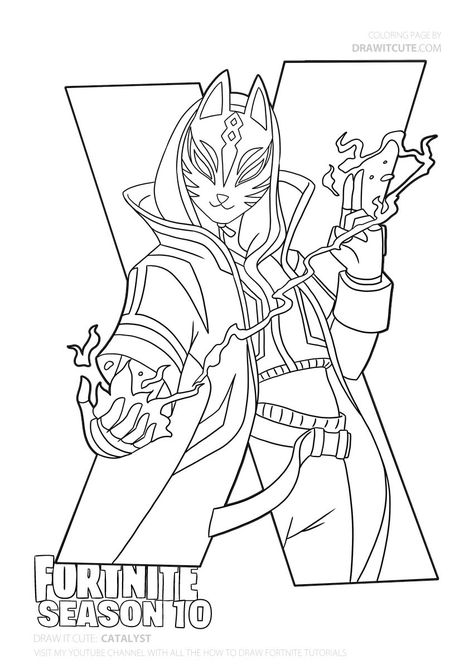 Print Drift Ultimate Mask Fortnite Coloring Pages