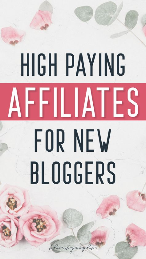 The best affiliates for new bloggers! Get approved quickly and start making money with your blog! | blogging for beginners | making money blogging tips | how to make money blogging | easy monetize blog | blogging passive income