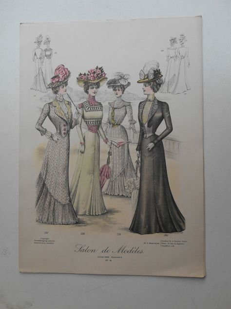 "Modejournal.""Salon de Modeles"". Juli 1900"