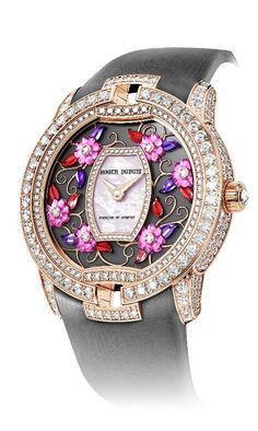 Diamond Watches Collection : Roger Dubuis Transforms Technical Prowess Into Beautiful Black Velvet Paraiba Wristwatch