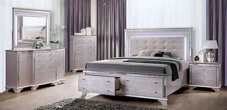 Claudette Cm7972q Bed Nschdrmr 5 Piece Bedroom Set With Queen Size