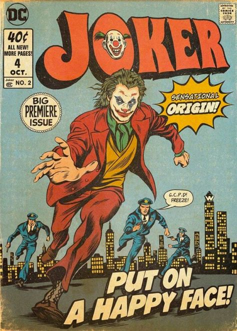 Art Poster Joker DC Movie Joaquin Phoenix 2019 Comic New Gift G-305