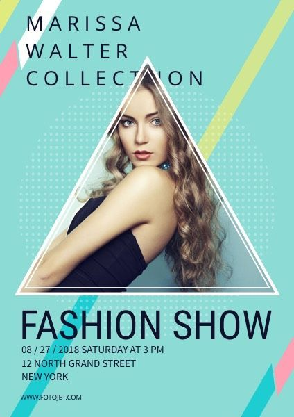 Fashion Show Event Poster Design Template Fashion  #Design #event #fashion #poster #Show #Template