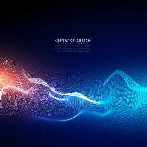 Fond de technologie abstraite avec effet de lumière