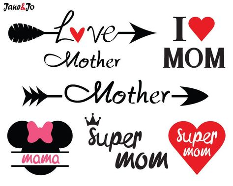 """""""Sale! Mother SVG File,mom svg,mama svg,Mother day svg,Love mother svg,Super mom svg,arrow mother svg,mickey mama svg Silhouette,Mother's Day SVG * * * * * * * * * * * * * * * * * * * * * * BUY 2, GET 1 FREE! Purchase any 2 items and get a 3rd item of equal or lesser value free! Add all three items to your cart and use coupon code BUYME to redeem your offer. Please make sure that the discount has been applied before you proceed with your payment. Add three items to your cart and don't miss our c"""
