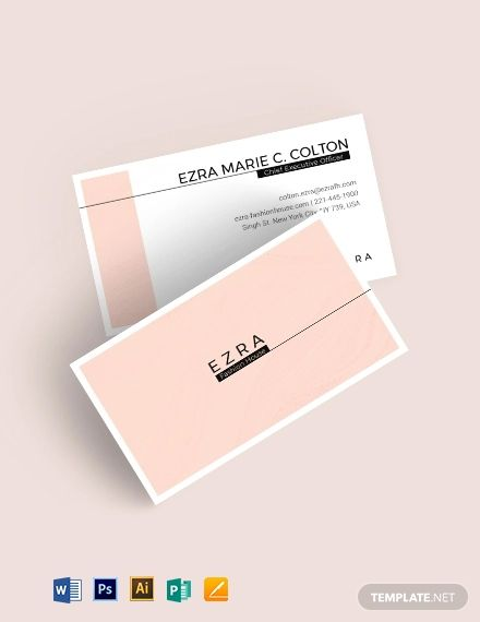 Fashion Business Card Template Word Doc Psd Apple Mac Pages Illustrator Publisher Fashion Business Cards Business Card Template Word Business Card Template Design
