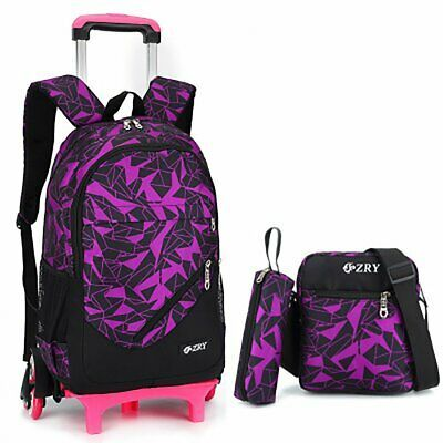 New Premium Wheeled Kids School Rolling Backpack Book Bag With Wheels For Girls
