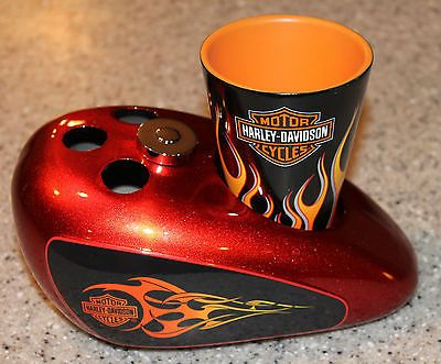 HARLEY DAVIDSON TOOTHBRUSH HOLDER/CUP. (A Current Link That Works)