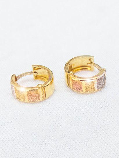حلق ذهب عيار 18 حلق كلبس وان سايز Gold Rings Engagement Rings