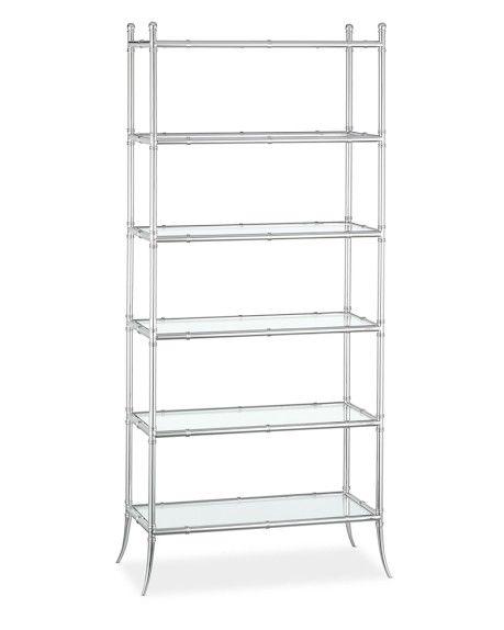tyler etagere glass 6shelf bookcase polished nickel kitchen pinterest polished nickel glass bookcase and shelves