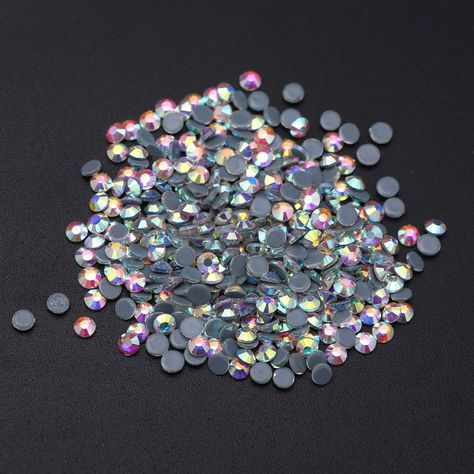 SS3-SS40 Shiny Colorful Hot fix Rhinestones  Iron On Rhinestones For Clothes