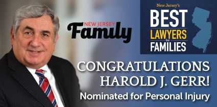 New Jersey Family Magazine Recently Named Attorney Harold J Gerr
