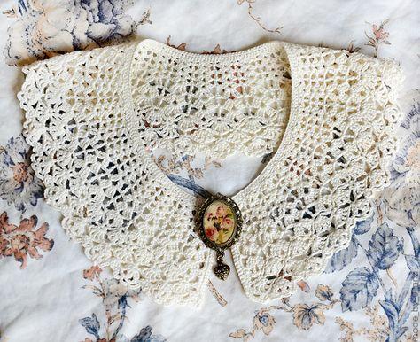 Crochet Collar Häkeln Pinterest Kragen Handarbeiten Und Häkeln