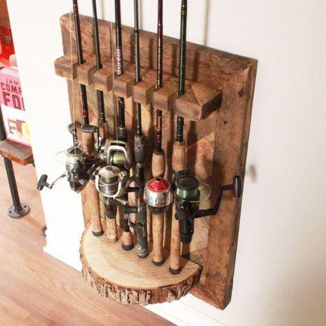 Barn Wood Fishing Rod Rack
