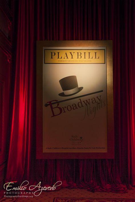 Playbill decor - Broadway Nights decor!