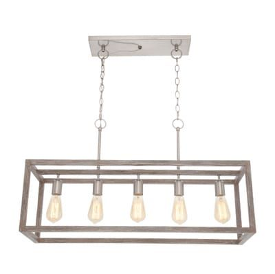 Home Decorators Collection Boswell Quarter 5 Light Brushed Nickel