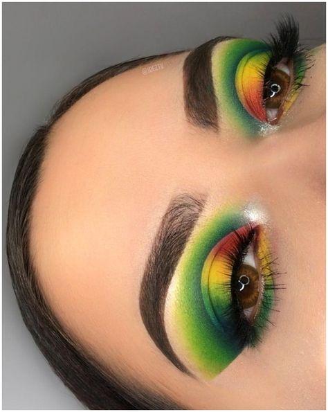 Crazy Green Eye Makeup