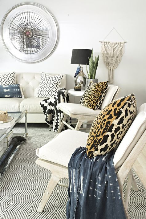 Neutral Living Room with a Boho Touch | Modern furniture ...