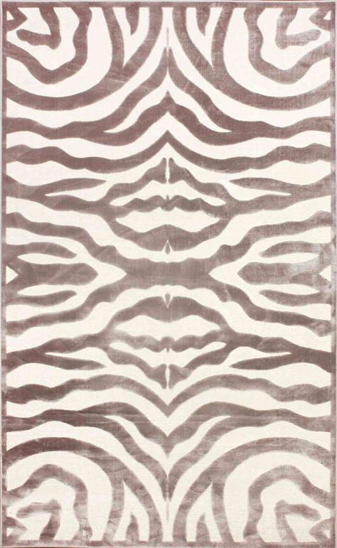 Nuloom Viscose Velvet Zebra Cream Rug