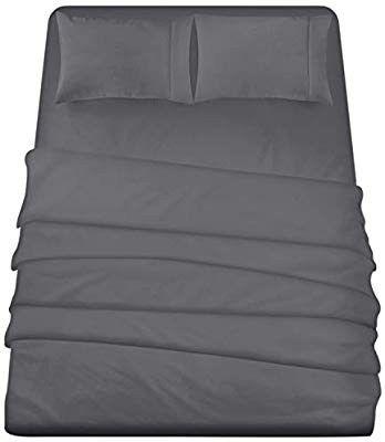 Utopia Bedding 4 Piece Queen Bed Sheets Set Grey Bedsheets Bedsheetsmurahmalaysia Bedsheetsets Beds Utopia Bedding Queen Bed Sheets Microfiber Bed Sheets