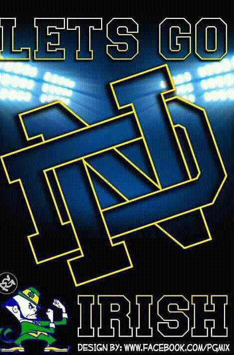 "Go ND. Like the Irish?  Be sure to check out and ""LIKE"" my Facebook Page https://www.facebook.com/HereComestheIrish  Please be sure to upload and share any personal pictures of your Notre Dame experience with your fellow Irish fans!"