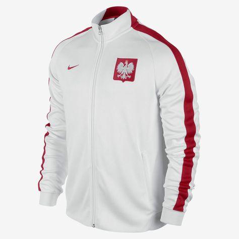 d5d18a43b NIKE POLAND AUTHENTIC N98 jacket 605359 MENS M WHITE RED FOOTBALL SOCCER  POLSKA  Nike  CoatsJackets