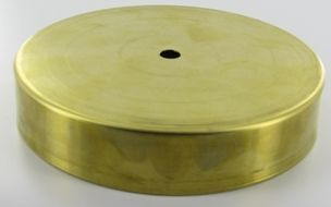 5in unfinished brass flat base w felt return 18 hole no unfinished brass flat base w felt return 18 hole no wireway parts for lighting creations pinterest living room lighting modern barn an aloadofball Image collections