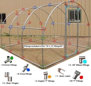 10 Green Greenhouse Fixings