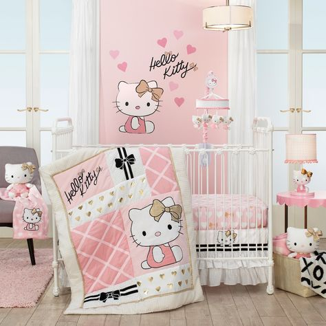 Lambs Ivy 3 Piece Hello Kitty Crib Bedding Set Multicolor Products