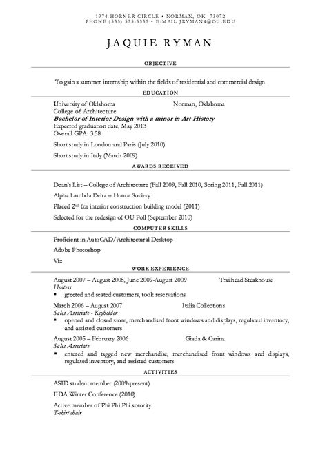 resume examples for restaurant 308 best resume examples images on
