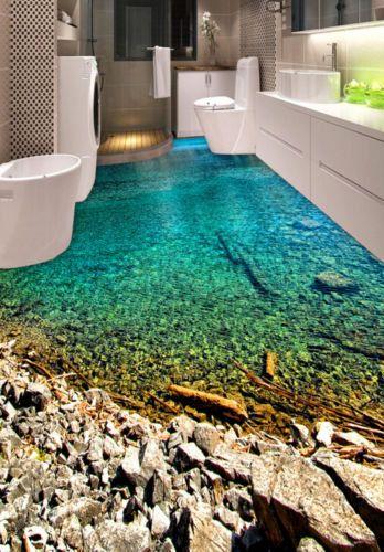 3d Water Rocks Steps 232 Floor Wallpaper Mural Floor Mural Etsy Floor Wallpaper Floor Murals 3d Floor Painting