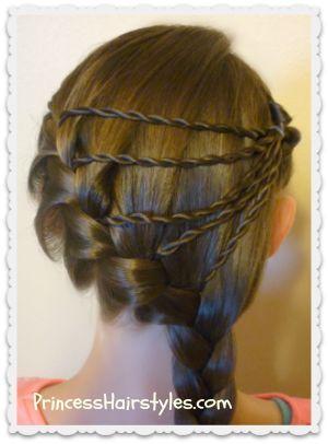 Shooting Star Braid Tutorial Princesshairstyles Com Cool Braid Hairstyles Braided Hairstyles Hair Styles