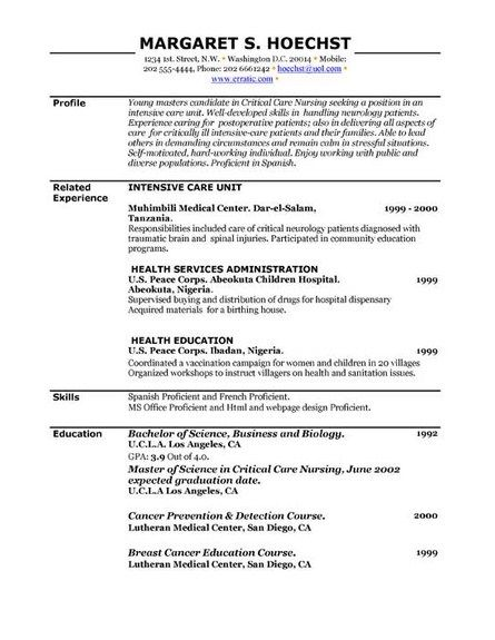 Free Resume Templates Printable - http\/\/getresumetemplateinfo - resume templates open office free