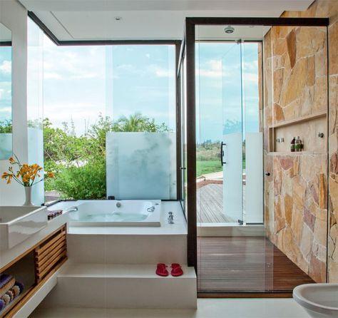 Na hora do banho você que escolhe! #banheira #chuveiro #banho