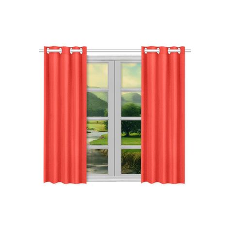 Pomegranate Solid Kitchen Curtain 26 X 39 Two Piece Curtains