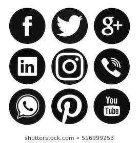 Fb Twitter Pinterest Spotify Logo Google Search Instagram Logo Spotify Logo Black And White Instagram