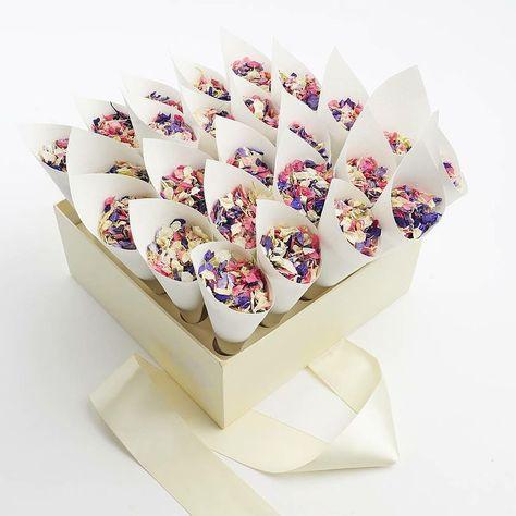 Detalles para bodas: Confetti de papeles de colores para la salida de la iglesia