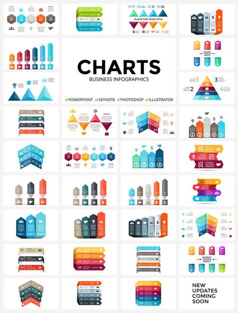 An amazing collection of highly professional infographics available as editable templates for Powerpoint, Keynote, Photoshop, and Illustrator. Here comes a