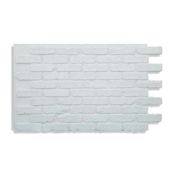 Antico Elements Faux Brick Panels White 47 5 In X 27 25 In Panel Brick Veneer Lowes Com In 2021 Faux Brick Panels Brick Paneling Faux Brick