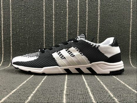 various colors 822e0 214a0 adidas EQT Support RF PK Flyknit BY9600 Black White Dark ...