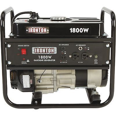 Generators 33082 Ironton Portable Generator 1800 Surge Watts 1400 Rated Watts Model Dg1800 Buy It Now Generators For Sale Portable Generator Generation