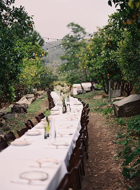 A simple layout for a #rusticwedding | Brides.com
