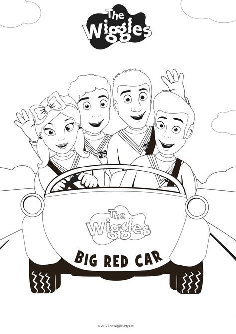 Wiggles Coloring Pages Get Your Red Yellow Purple And Blue Crayons