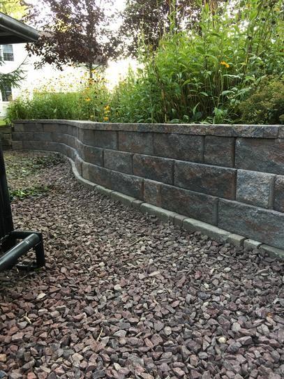 Retaining Wall Bricks Home Depot : retaining, bricks, depot, Pavestone, RockWall, Medium, Palomino, Concrete, Retaining, Block, Pallet)-79681, Depot, Walls,, Wall,, Natural, Landscaping