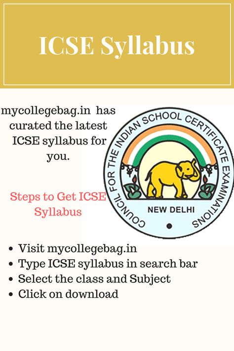 ICSE Syllabus for Class 9 and Class 10 | ICSE Materials | Pinterest