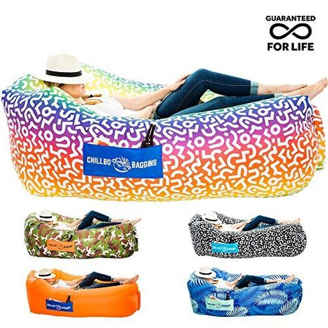 Amazon Com Chillax Inflatable Lounge Airbed With Carry Bag And