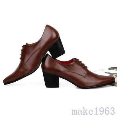 Details about  /Mens Business Formal Leather Lace Up Cuban Nightclub Oxfords Pumps Shoes Stylish